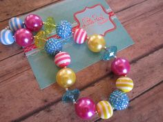 Bubblegum Necklace  Chunky Necklace  by LittlePearlBoutique, $22.00
