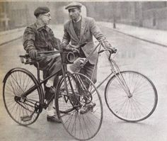 Vintage photo with a Pedersen bike.