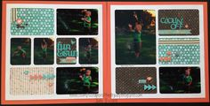 Chalk It Up layout #CTMH Stamp, Scrap, Craft with Judy