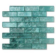 "Bathroom feature tile Glass Wall Tile - Solistone 10-Pack 12"" x 12"" Folia Light Blue  Gorgeous!"