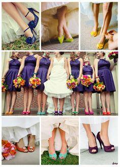 Coloridos zapatos de novia para la mujer de hoy | Tendencias