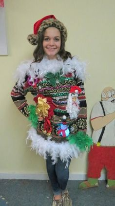 If i ever have to go to a tacky christmas party i totally know tacky christmas sweater dress solutioingenieria Gallery