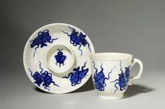 Cup and trembleuse saucer