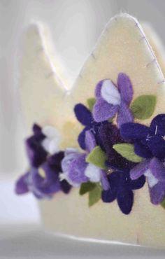 Felt Crown  Floral Lilacs by StellandLivi on Etsy, $32.00
