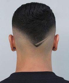 Fade Haircut Styles, Short Fade Haircut, Hair And Beard Styles, Haircuts For Balding Men, Cool Haircuts, Hair Tattoo Designs, Gents Hair Style, Men Hair Color, Faded Hair