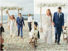 Now THAT is a wedding dress you can wear again!  Ruth Anne Photography - Blog - Lesley+Matt's wonderful white wedding // Hawaii Four Seasons weddingphotographer