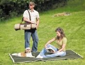 Today's picnic blankets are comfortable, well made and fun to use. Picnic blankets used to be little more than a wool or cotton blanket from the linen closet OR an old tablecloth retired from use on the family dinner table. Picnic Blanket, Outdoor Blanket, Storing Blankets, Cotton Blankets, Workplace, First Love, Stylish, Fun, Gifts