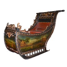 Dutch Sledge, Wood, Holland, ca.1800, an Absolutely Amazing Piece.