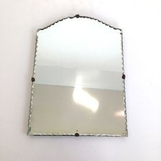 vintage Portrait Mirror - Scalloped Bevelled Edge by VintageCommon on Etsy