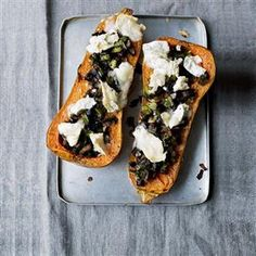 Stuffed butternut squash with goat's cheese Recipe | delicious. Magazine free recipes