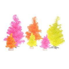 Medium Neon Christmas Tree (orange) - Like the idea of using the small trees for table centerpieces -- decorated of course!
