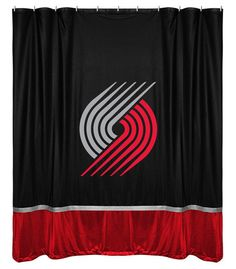 Portland Trail Blazers NBA Sports Coverage Team Color Shower Curtain Sidelines  #SportsCoverage #PortlandTrailBlazers