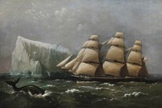 'HMS Scout' Passing an Iceberg, 4 March 1875 (Captain, Ralph P. Cator), 1880 by Richard Brydges Beechey (British 1808–1895)