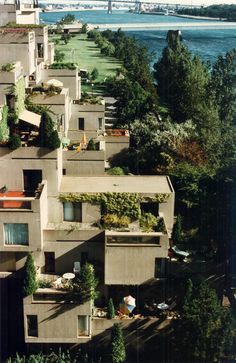 Habitat 67, the experimental modular housing presented by Moshe Safdie at the 1967 World Expo in Montreal