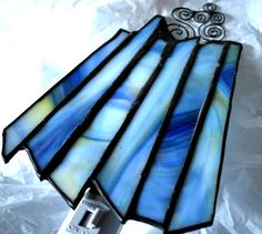 BLUE+Stained+glass+night+light+by+CreativeGlassStudio+on+Etsy,+$28.00