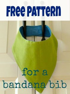 How to make a bandana bib - with a FREE PATTERN included!