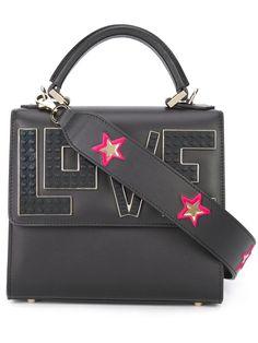 LES PETITS JOUEURS Womens Made In Italy Leather Satchel Handbag Crossbody NWT  | eBay