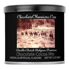 Chocolate Obsessions Double Dutch Belgian Premium Hot Chocolate Drink Mix - home decor design art diy cyo custom