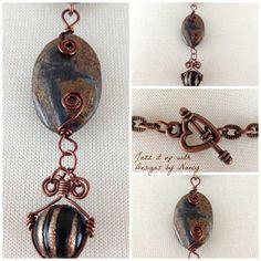 Bronzite Gemstone Pendant Wire Wrapped Handmade Necklace