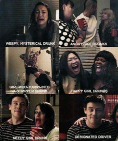 Finn's class on drunk stereotypes :)