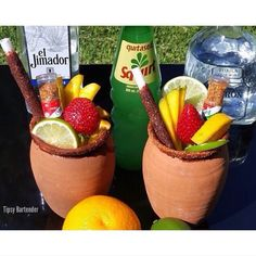 The Jarrito Loco Cocktial is a great summertime cocktail. The Jarrito Loco is made from Party Drinks, Cocktail Drinks, Fun Drinks, Alcoholic Drinks, Beverages, Mixed Drinks, Cocktails 2018, Spring Cocktails, Mexican Snacks