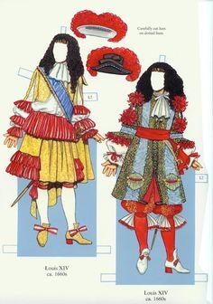 Louis XIV and his Court (Tom Tierney) - Nena bonecas de papel - Picasa Web Albums