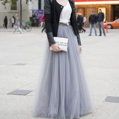 Top Fashion Gray Tulle Skirt A Line Floor Length Maxi Skirt Street Style Long Skirts Women Hot Sale 2016 Tutu Skirt en Faldas de Ropa y Accesorios de las mujeres en AliExpress.com | Alibaba Group
