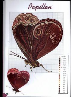 Сердца - Очень красивые схемы для вышивки крестом.