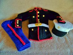 OMG LOVE! Marine Corps baby USMC dress blues outfit you by conniemariepfost, $155.00