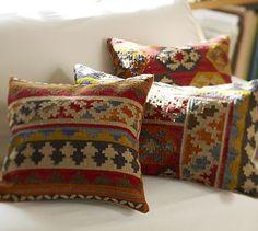 Hannah Freeman would love this!  Ferada Kilim Pillow Covers #potterybarn