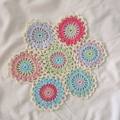 ByHaafner, crochet, doily, pastel