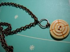Vintage Style BUTTON Pendant and ANTIQUE COPPER by Beads4You2008