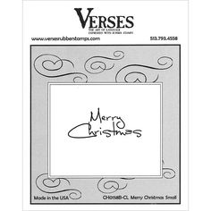 Verses Cling Stamp - Merry Christmas SM, The Stamp Simply Ribbon Store