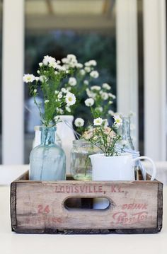 "farmhousetouches: "" (via Beach Cottage Style - The One Coastal Style Item You Need for Beachy …) "" I love recycled wooden drink crates. They just look so awesome in decor! Beach Cottage Style, Beach Cottage Decor, Coastal Cottage, Coastal Style, Coastal Decor, Coastal Living, Coastal Curtains, Coastal Rugs, Coastal Bedding"