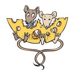 Cartoon Afbeelding Van Muizen Met Kaas Royalty Vrije Cliparts, Vectoren, En Stock Illustratie. Image 76258837.