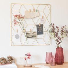 Gold Metal Photo Montage Frame on Maisons du Monde. Office Workspace, Office Decor, Craft Stick Crafts, Diy Crafts, Easter Crafts For Kids, Photomontage, Dream Bedroom, Girl Room, Room Inspiration