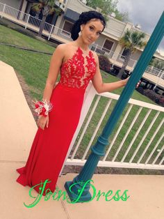 179 USD.Red Chiffon Prom Dress,Halter Prom Dress,Appliques Prom Dress,Backless Prom Dress,Mermaid Prom Dress,Long Party Dress,Evening Formal Gowns