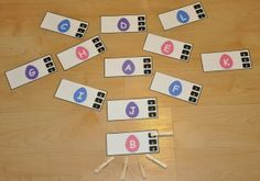 Easter Egg Letter Clothespin Task:  Students attach one clothespin per card to match the capital letter on the Easter egg to the lowercase letter on the side of the card.