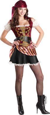 teen girls pirate treasure pirate costume - Teenage Girl Pirate Halloween Costumes