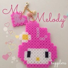 My Melody perler beads by bepplers