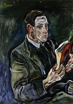 Oscar Kokoschka – Portret van Ludwig Adler, 1914, Olieverf op doek,  101X72 cm | Museum voor Schone Kunsten Gent
