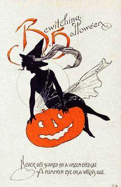 "gravesandghouls: "" Halloween postcard c. 1900's """