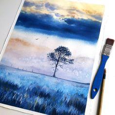 Watercolorist: @magrish #waterblog #акварель #aquarelle #painting #drawing…
