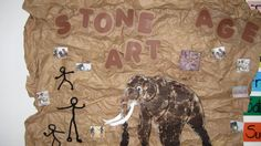 Stone age art Maths Display, Class Displays, School Displays, Classroom Displays, Year 3 Classroom Ideas, Classroom Inspiration, Teaching History, Teaching Art, Prehistoric Age