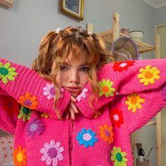 Mode Crochet, Knit Crochet, Crochet Cardigan, Crotchet, Crochet Clothes, Diy Clothes, Look Fashion, Fashion Outfits, Indie Kids