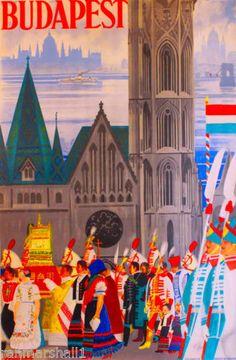 Hungary-Hungarian-Budapest-European-Europe-Vintage-Travel-Advertisement-Poster
