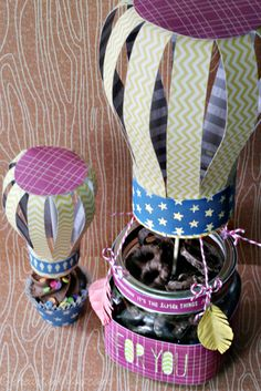 Sizzix: Die Cutting Inspiration and Tips: Altering the Lantern into Hot-Air Balloon Treats! Air Ballon, Hot Air Balloon, Tiffany Johnson, Origami, Paper Crafts, Diy Crafts, Craft Projects, Project Ideas, Craft Ideas