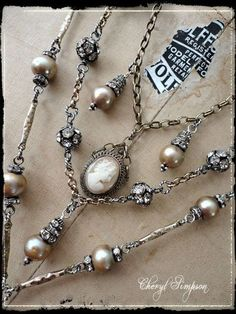 I love pearls and all things shiny!