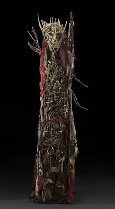 Sylvain and Ghyslaine Staelens, Personnage, 2015, Wood, metal, cloth, found objects, 66 x 21 x 14 inches, 167.6 x 53.3 x 35.6 cm, GSS 43