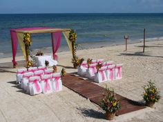 Another great destination wedding set up in Mexico